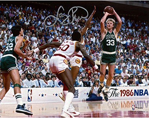 Larry Bird Boston Celtics Autographed 8