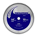 TWIN-TOWN 14-Inch 72 Teeth Dry Cut Steel and