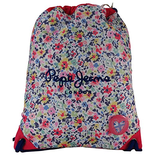 Pepe Jeans Red London Drawstring Backpack