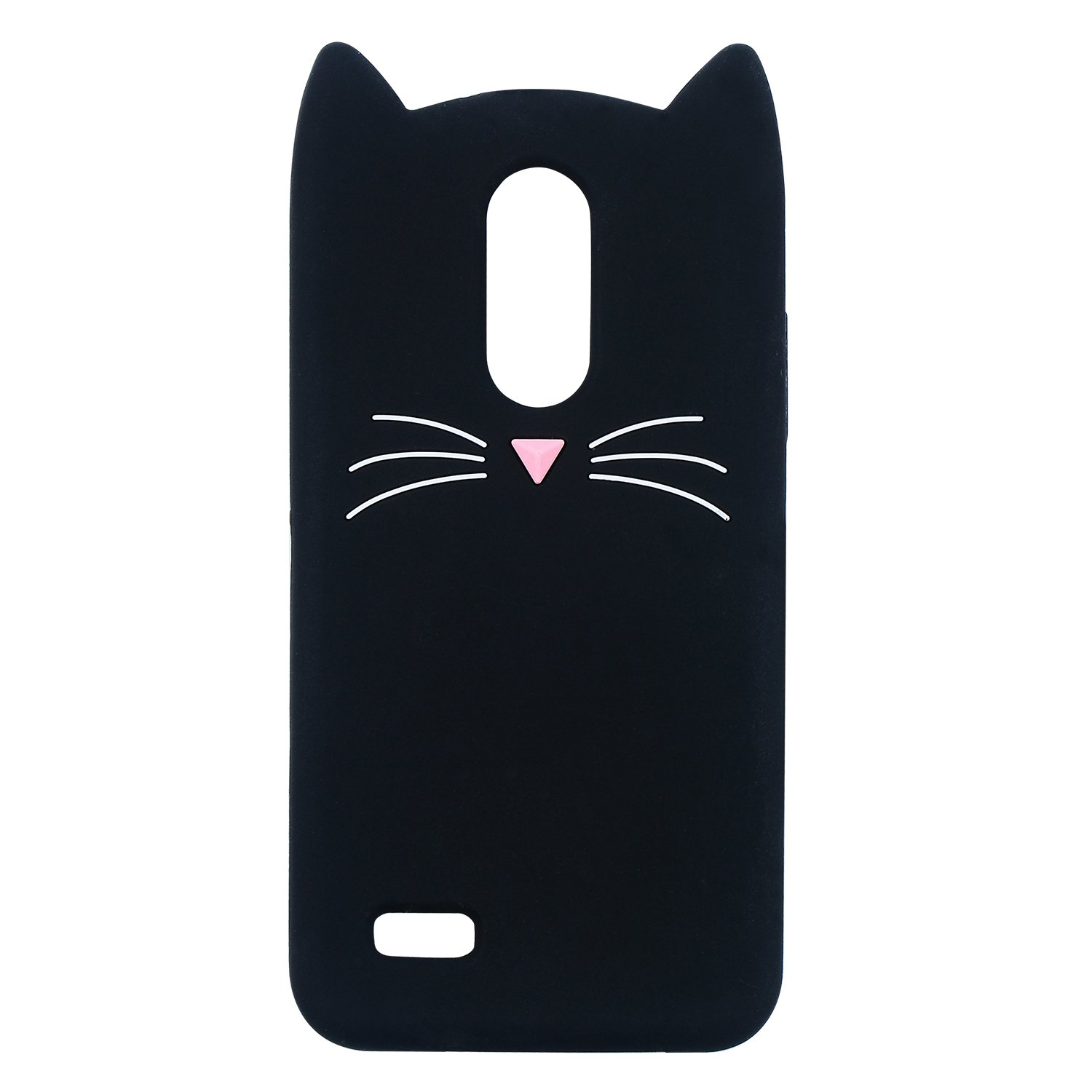 Joyleop Case for LG K20 Plus/K20V,Cartoon Soft Silicone Cute 3D Fun Cool Cover,Kawaii Unique Kids Girls Lady Gift,Lovely Animal Character Rubber Cases Shockproof Skin Protector LG Harmony Black Cat
