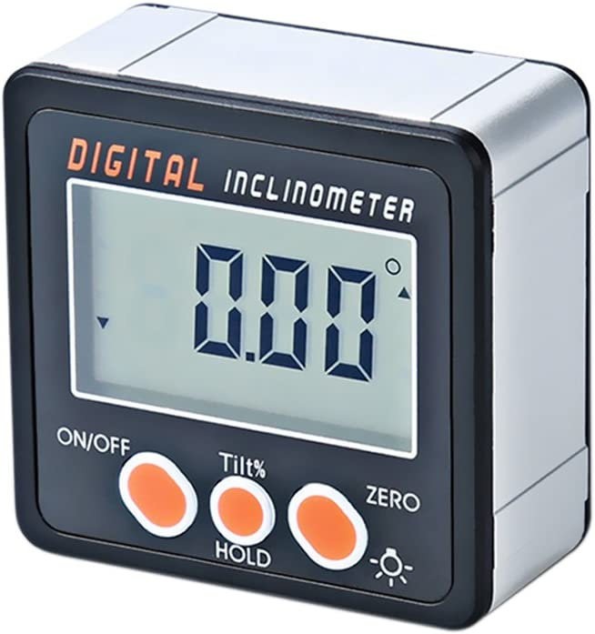 Digital Inclinometer 0-360/°Electronic Protractor Aluminum Alloy Shell Digital Bevel Box Angle Gauge Meter Magnets Base