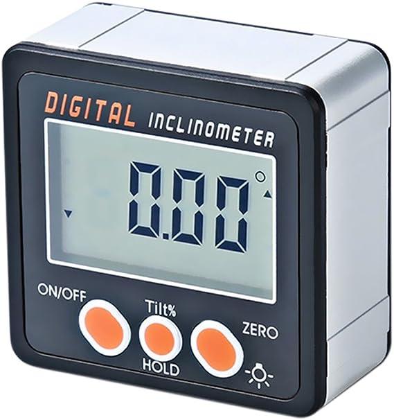 KKmoon Inclinómetro digital Transportador Base electr