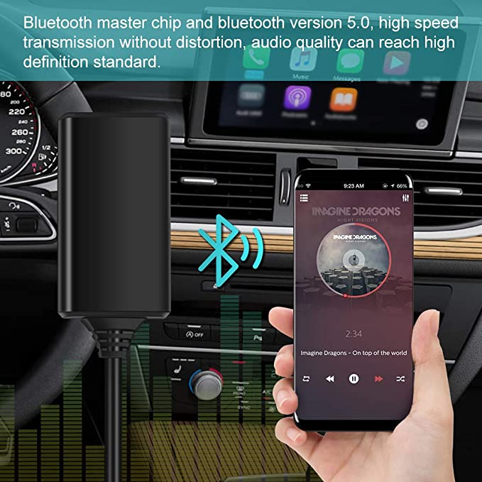 Bluetooth Audiokabel Bluetooth5 0 Auto Aux Musikschnittstellenadapter Audiokabel Für Ami Mmi Mdi Auto