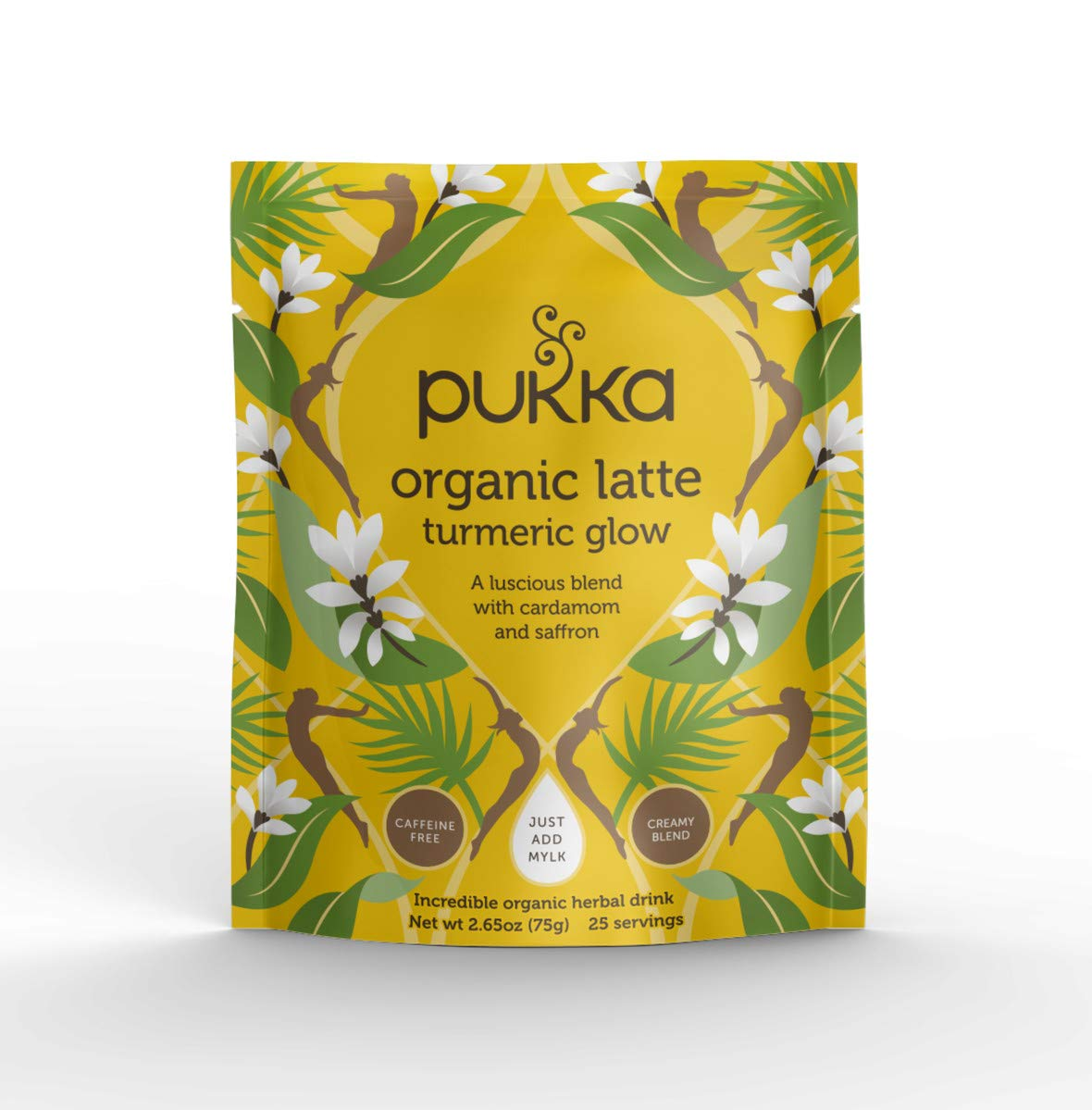 Pukka Turmeric Glow, Organic Herbal Latte with Cardamom & Saffron, 75g by Pukka Herbs
