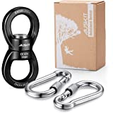 AusKit Swing Swivel, 30 KN Safest Rotational Device Hanging Accessory with Carabiners for Web Tree Swing, Swing Setting, Aerial Dance, Children's Swing