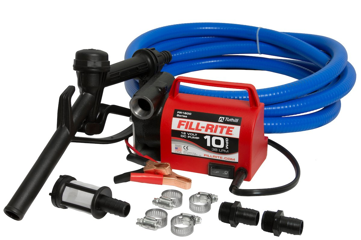 Fill-Rite FR1614 Diesel Fuel Transfer Pump with Hoses - 12 Volt, 10 GPM, Model# FR1614