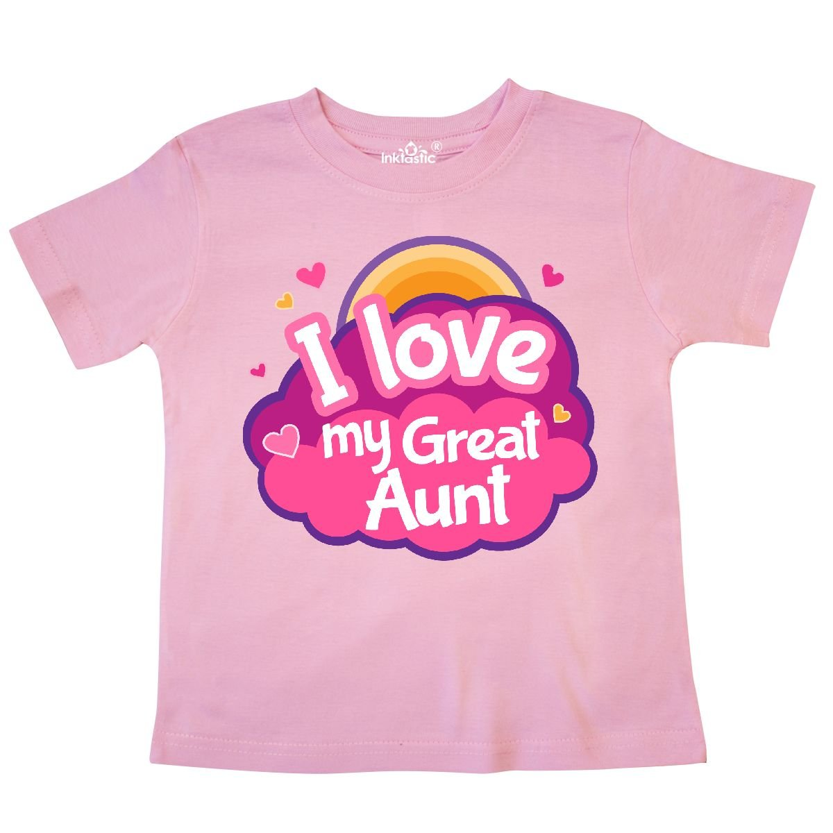 inktastic I Love My Great Aunt Grand Niece Toddler T-Shirt