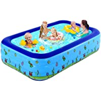 JI TA Piscinas Rectangulares Desmontables,Pool Piscinas para Terrazas, Piscina Hinchable Familiar, Piscina de Bolas…