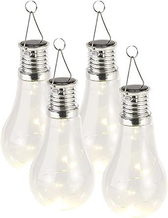 24 Stück Solar LED Hänge Leuchte Birne 12