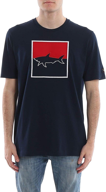 PAUL & SHARK Luxury Fashion Man E20P1024013 Blue Cotton T-Shirt   Spring Summer 20