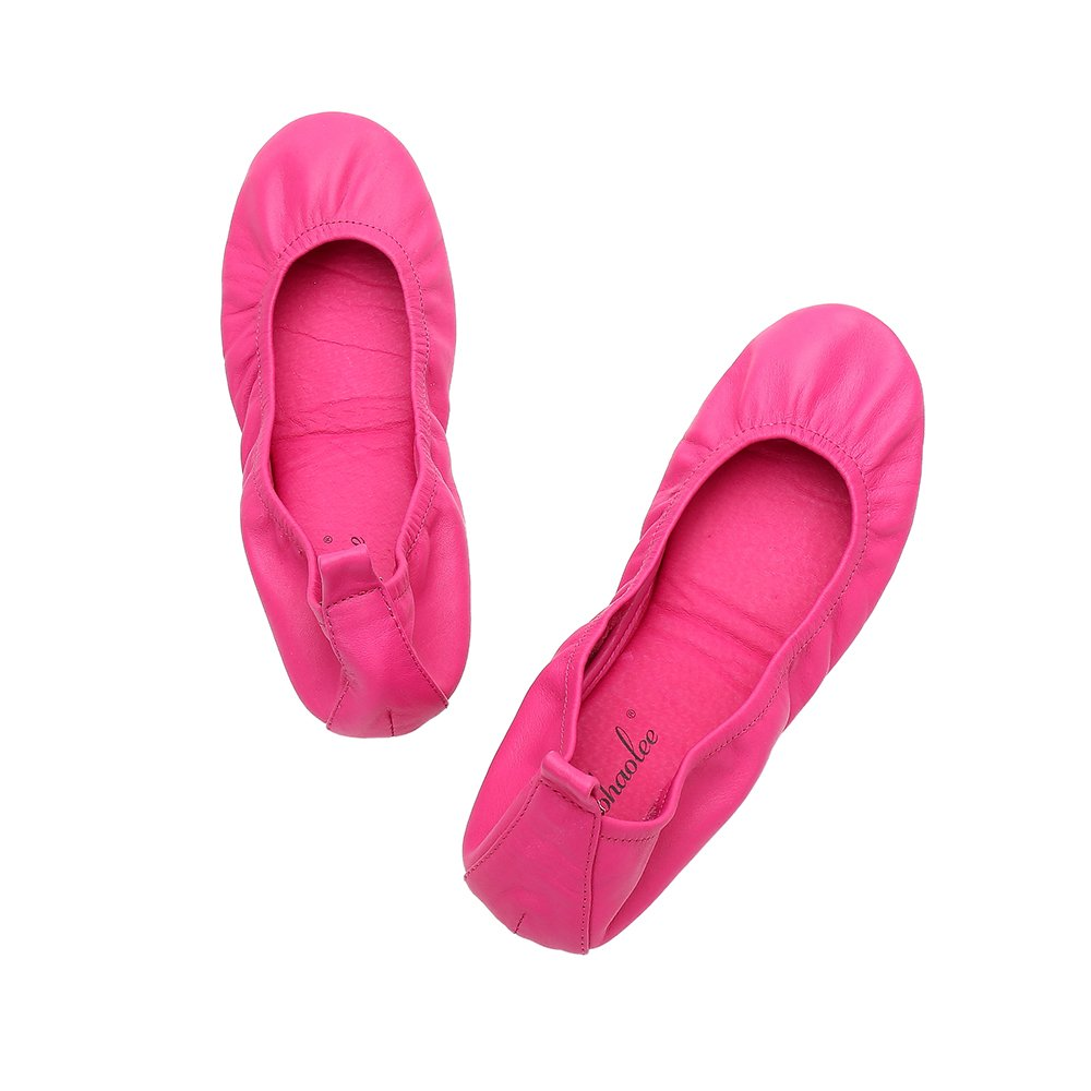 HeaBea Body Women Ballets Flats Super Comfortable and Foldable Flat Shoes (10, Fuchia)