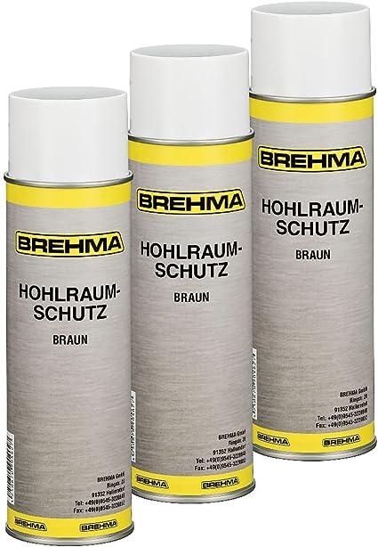 Brehma 3x Hohlraumschutz Hohlraumversiegelung Spray 500ml Wachs Auto