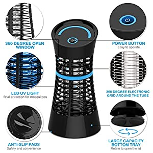 NuoYo Mosquito Killer, Electronic Bug Zapper Indoor Insect Killer 800V UV Light Mosquito Zapper, Non Toxic & Maintenance Free