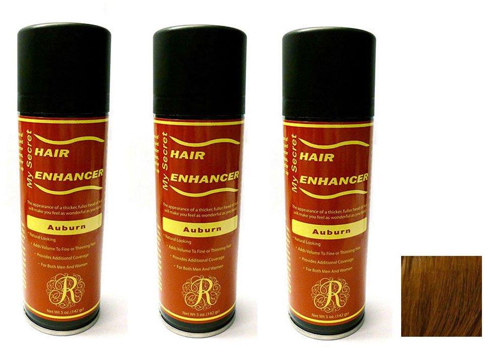 My Secret Hair Enhancer Spray for Fine or Thinning Hair - Auburn 5 oz - 3 Cans by My Secret