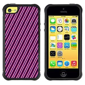 Qstar Arte & diseño Anti-Slip Shockproof TPU Fundas Cover Cubre Case para Apple iPhone 5C(Diagonal Lines)