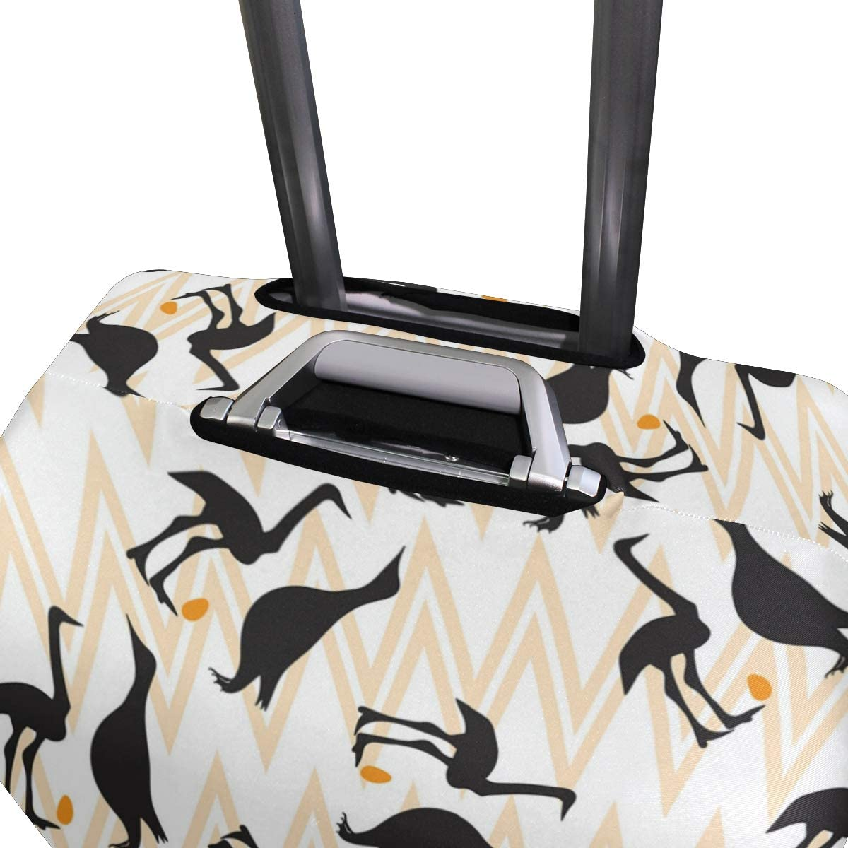 Cute Funny Playful Penguin Travel Luggage Protector Case Suitcase Protector For Man/&Woman Fits 18-32 Inch Luggage
