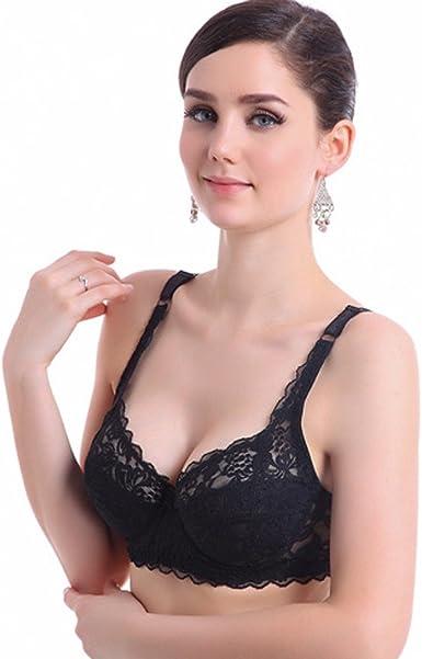 Lace Bra Push Up Bra 36-40C DE Cup Plus Size Women Underwear Underwire Brassiere
