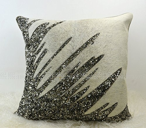 HOMEE India Imported Pillow Cushion Psoriasis Minimalist Modern Pillow Sample House on Chip Leather Sofas with Gray Stripe ,3050Cm,90131 Package,90130,45x45cm