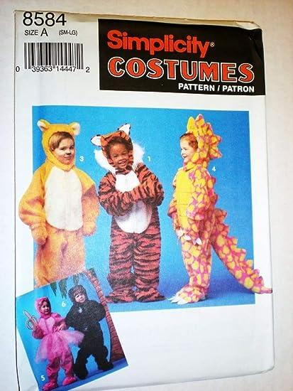 Amazon Simplicity Costume Pattern Childs Lion Tiger Dinosaur