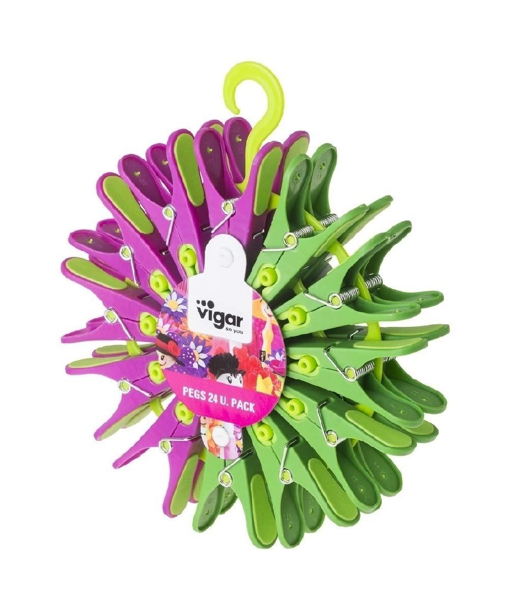 VIGAR Set Pinza De Ropa 24 Uds Flower Power