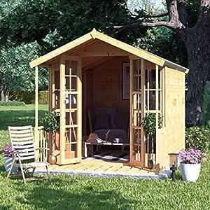 Caseta BillyOh para el jardín, machihembrada, con tejado triangular y cubierta de fieltro (modelo Lily): Amazon.es: Jardín