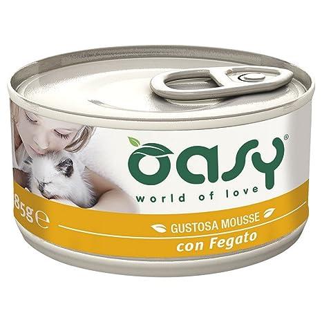 OASY Mousse de hígado comida para gatos Gato mojado Prima