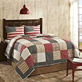 VHC Brands Victory Americana King 3 Pc Quilt Set by