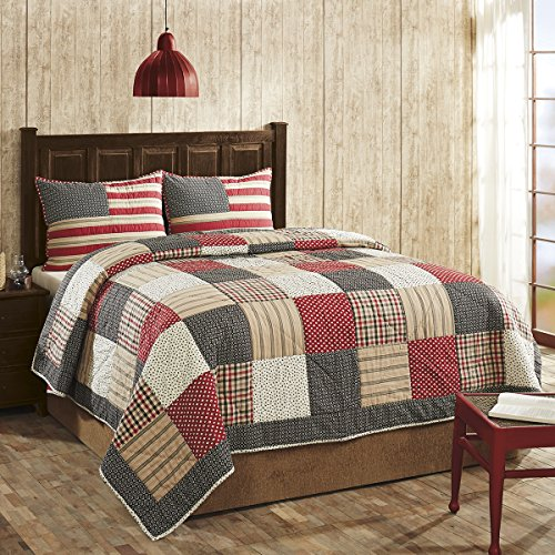 Victory Americana Queen 3 Pc Quilt Set by VHC ()