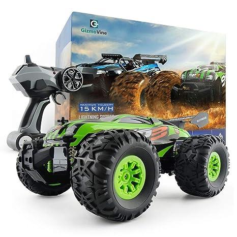 GizmoVine RC Coche Teledirigido Vehículo Hobby, Talla Grande Monster Truck 2.4GHz Gran Neumático Coches