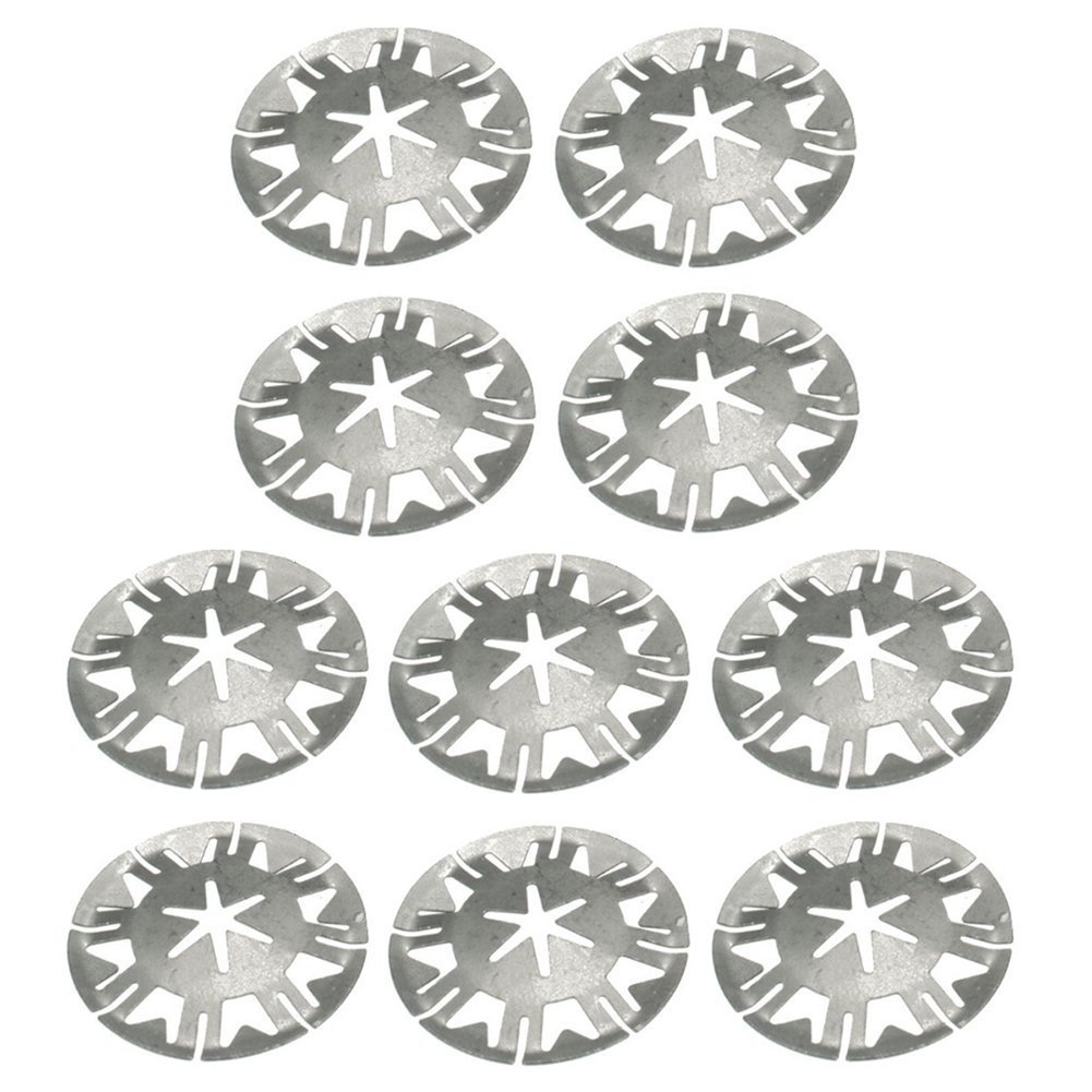10 X MERCEDES-BENZ Metal Locking Star Washers Underbody Heat Shield Fasteners