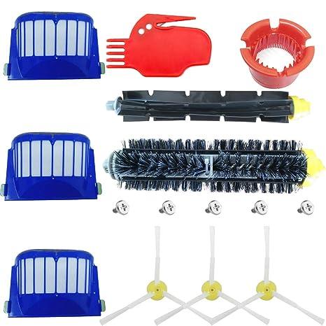 Kit Cepillos Repuestos de Accesorios para Aspiradoras iRobot Roomba Serie 600 605 610 615 616 620
