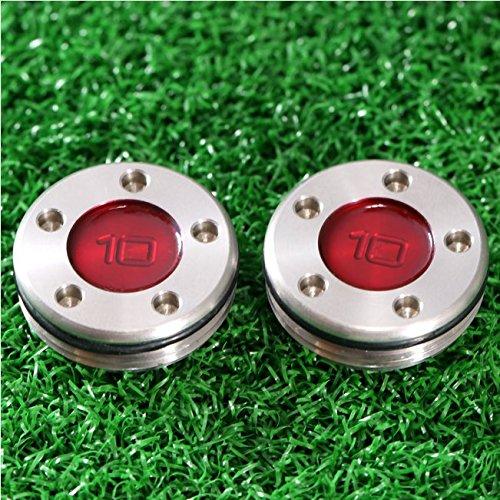 adahill ( TM )レッドステンレススチールゴルフパター重量ネジ(パックof 2 )  10 g B01MPXWAXP