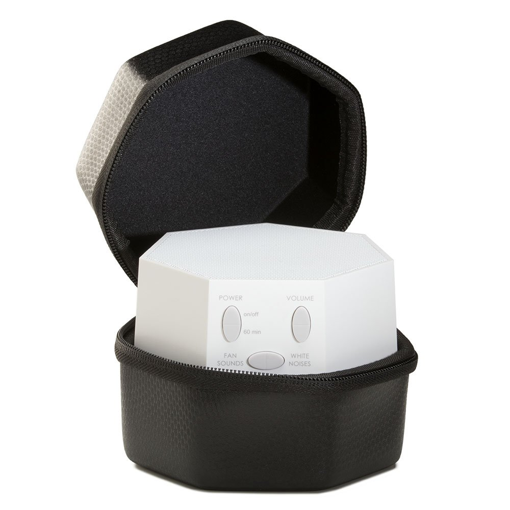 White LectroFan with Travel Case