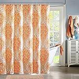 Orange Shower Curtain Intelligent Design ID70-220 Senna Shower Curtain 72x72 Orange, 72 x 72,