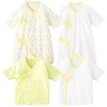 1e070d9309966 コンビミニ (Combimini) コンビ肌着 + 短肌着 新生児 長袖   50~60