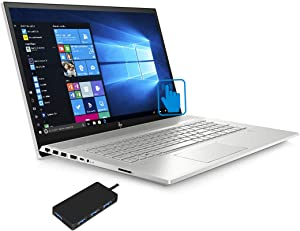 "HP Envy - 17t (2020) 10th Gen Laptop (Intel i7-10510U 4-Core, 64GB RAM, 1TB PCIe SSD + 2TB HDD, GeForce MX250, 17.3"" Touch Full HD (1920x1080), Fingerprint, WiFi, Bluetooth, Win 10 Pro)"