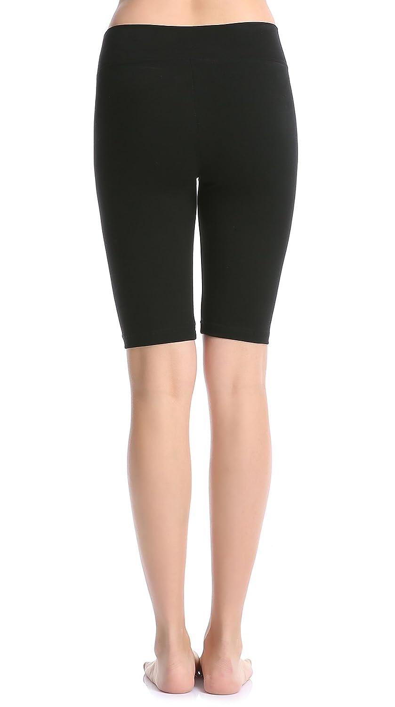 9d2628ad6bcd42 Amazon.com: ABUSA Women's Cotton Activewear Workout Bike Yoga Shorts:  Clothing