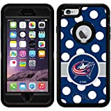 Columbus Blue Jackets - Polka Dots design on Black OtterBox Defender Series Case for iPhone 6 Plus and iPhone 6s Plus