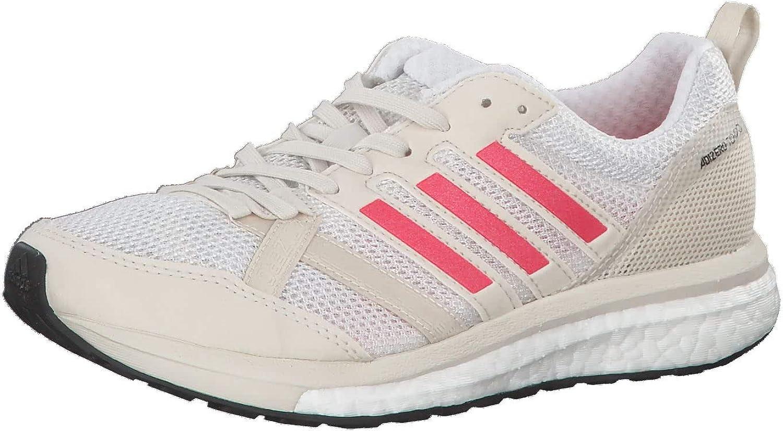 adidas Adizero Tempo 9 Wettkampfschuh Damen-Creme, Rot, Running Zapatillas de competición para Mujer: Amazon.es: Zapatos y complementos