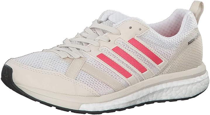 adidas Adizero Tempo 9 Wettkampfschuh Damen - Creme, Rot, Running Zapatillas de competición para Mujer: Amazon.es: Zapatos y complementos