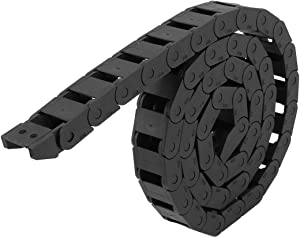 uxcell Black Plastic Drag Chain Cable Carrier 10 x 15mm for CNC Router Mill