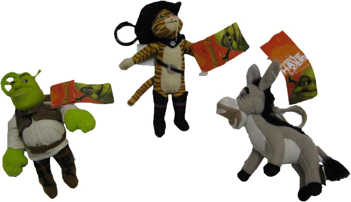 Shrek Keychain Set Boots And Donkey 3 Pieces Shrek