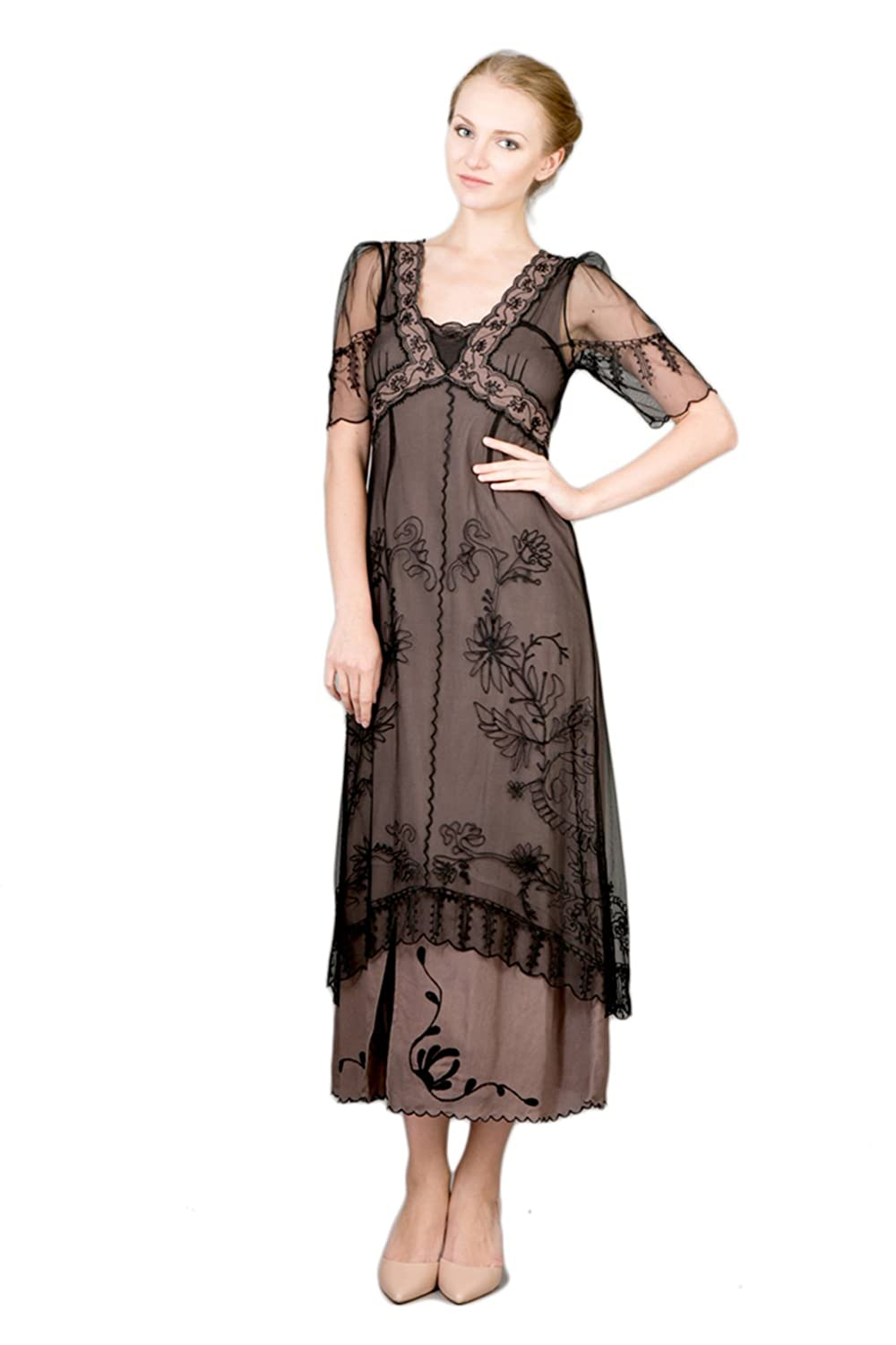Women s Titanic Vintage Style Dress in Black Coco at Amazon Women s Clothing  store  bf2a0c1ee