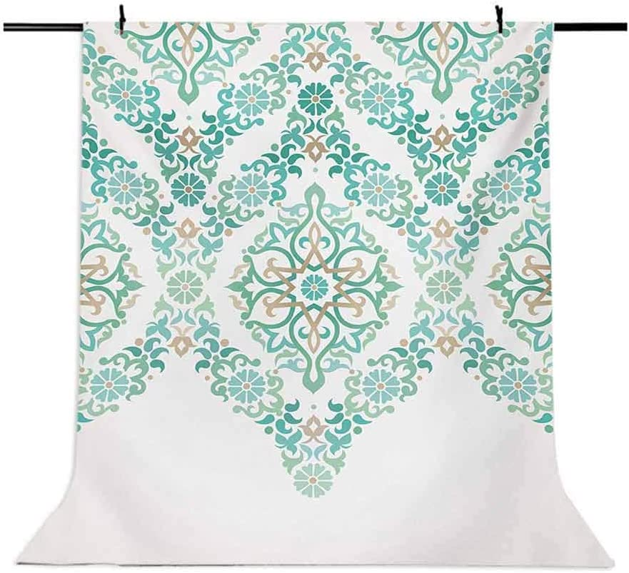 Traditional 10x15 FT Photography Backdrop Retro Middle Age Symmetrical Traditional Gothic Garland Forms in Pastel Print Background for Baby Birthday Party Wedding Vinyl Studio Props Photography