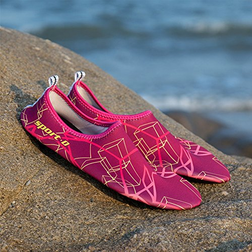 Shoes Surf Water 2 Aqua Rose For Barefoot Swim Yoga Socks Red SAGUARO Skin Beach qtzWfCFw
