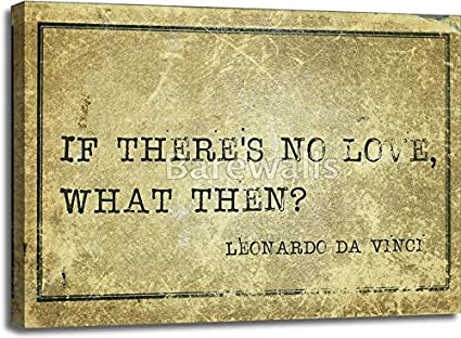 Amazon.com: If No Love Davinci Paper Print Wall Art Gallery Wrapped ...