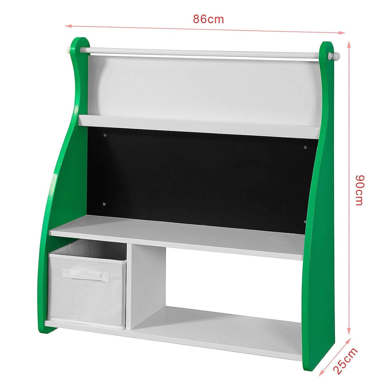 sobuy kmb09 gr design kinder b cherregal mit tafel b chergestell mit 3 ablagen und. Black Bedroom Furniture Sets. Home Design Ideas