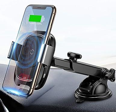 Baseus - Cargador de coche inalámbrico para iPhone Xs/Xs Max/XR/X, Galaxy Note 9/S9/S9+ y otros smartphones de 4,0 a 6,5 pulgadas: Amazon.es: Electrónica
