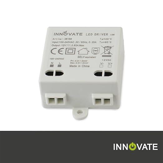 3 opinioni per Innovate Trasformatore LED Mini 12V/DC, 0–10W–Mini