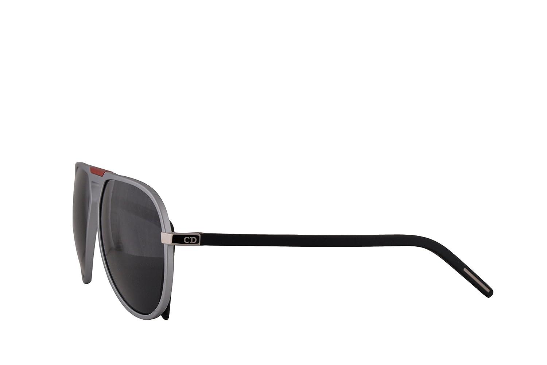 ea1a1b1ed33 Amazon.com  Christian Dior Homme AL13.2 Sunglasses Matte Silver Black w Grey  Blue Lens 59mm UFRIR AL13.2S AL13.2 S AL 13.2S AL 13.2 S AL 13.2  Clothing